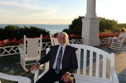 Sitting on the Porch after dinner The Grand Hotel on Mackinac Island