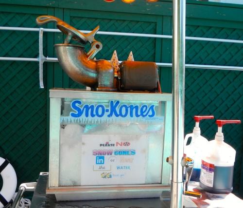 Sno-Kones at the Grand Hotel on Mackinac Island