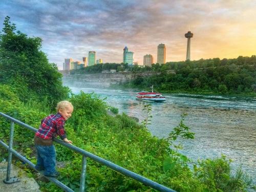 Sunset at Niagara Falls