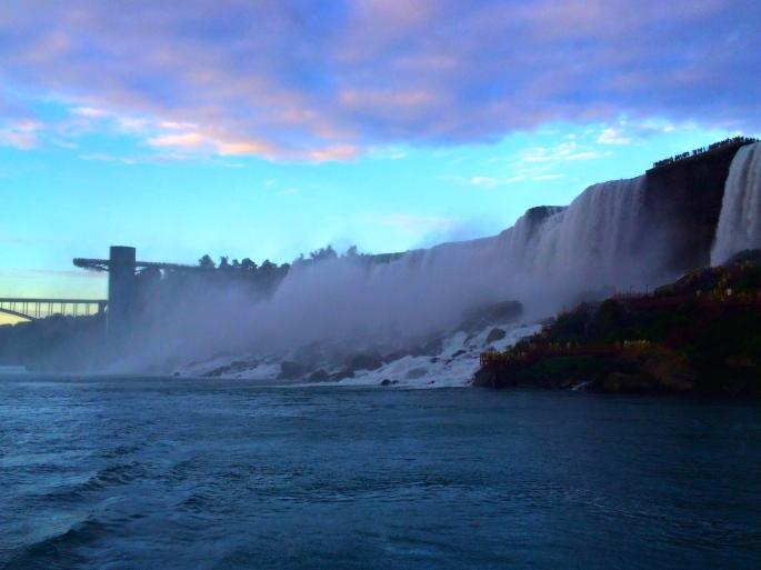 Sunset over Niagara Falls