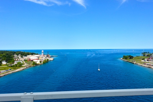View from the Blue Water Bridge.