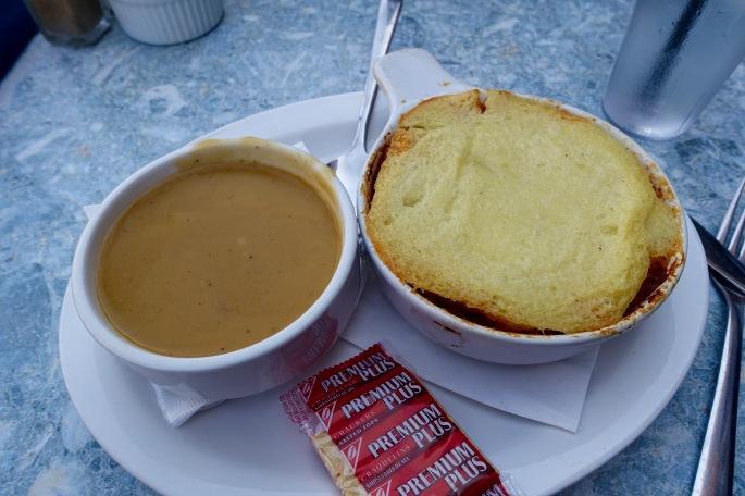 Butternut Soup and Shepherd's Pie