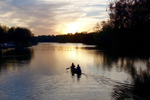 Canoeing at Sunset on Avon River