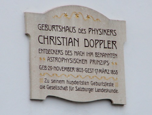 Christian Doppler Plaque