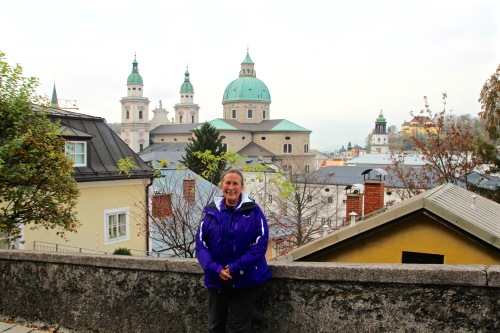 Climbing up the Salzburg Fortress