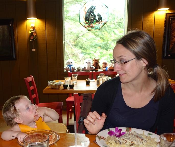 Eating dinner at. Camp 33 JPG