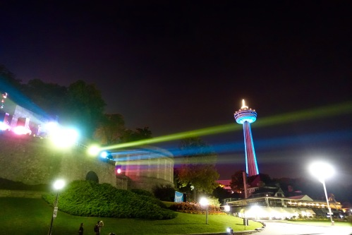 Flood lights at Niagara Falls