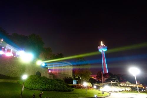 Flood lights at Niagara Falls