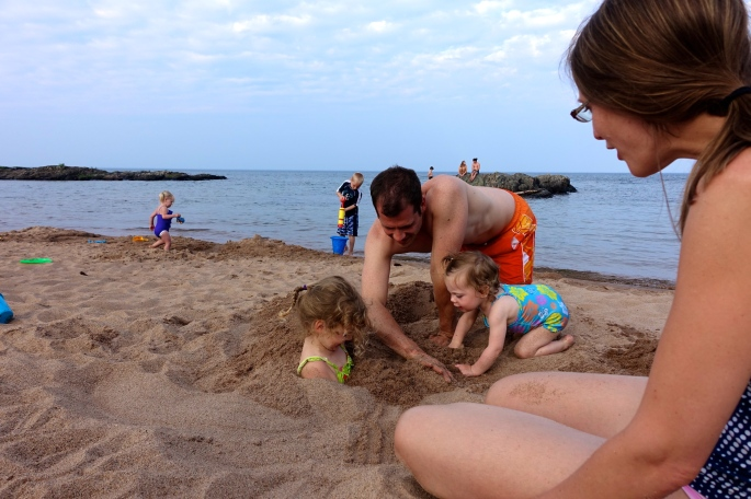 Getting Sandy Rocks at McCarty's Cove