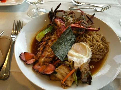 Grilled Lobster Ramen at The Heritage Restaurant, GR