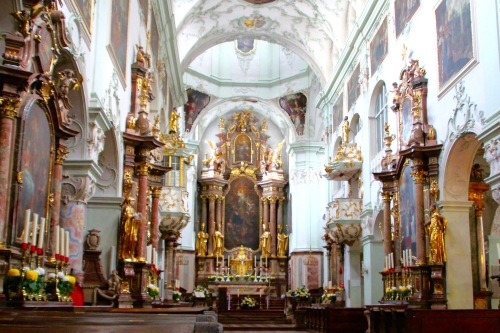 Inside St. Peter's Basilica. Salzburg