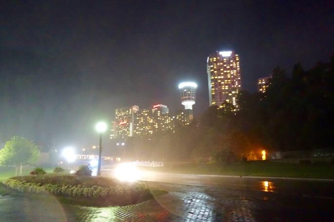It always seems rainy at Niagara Falls