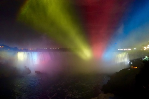 Light through the mist at Niagara Falls