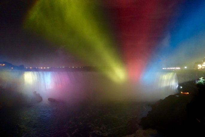 Light through the mist at Niagara Falls