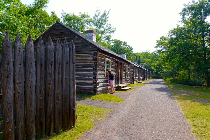 Log cabins at Fort Wilkins