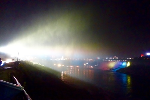 Mists at Niagara Falls at Night