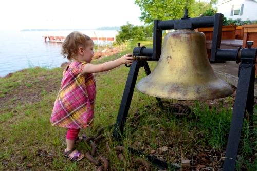 Ringing the Bell at Copper Harbor
