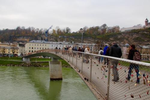 Salzach River. Salzburg Makartsteg
