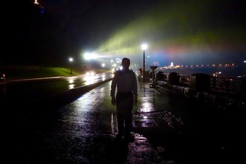 Silhouette of Alan at Niagara Falls