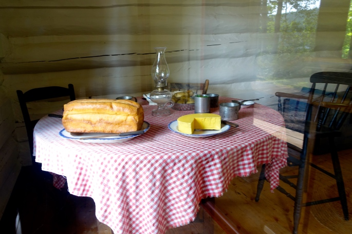 Table setting at Fort Wilkins