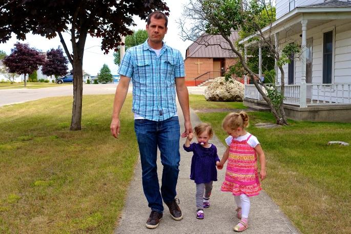 Walking around Mackinaw City