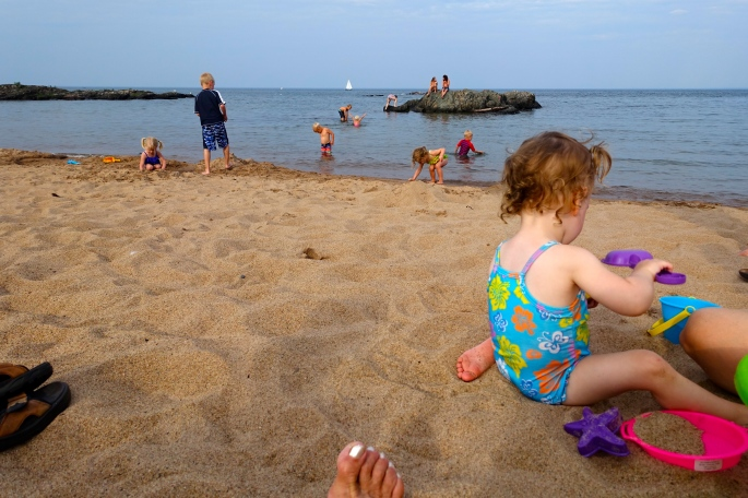 Watching the kids play at McCarty's Cove