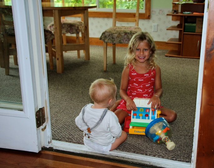 Baby in Doorway