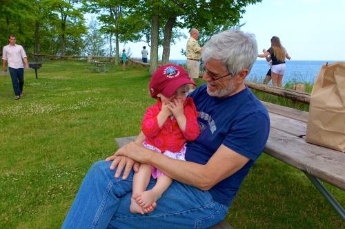 Baby on Grandpa's lap