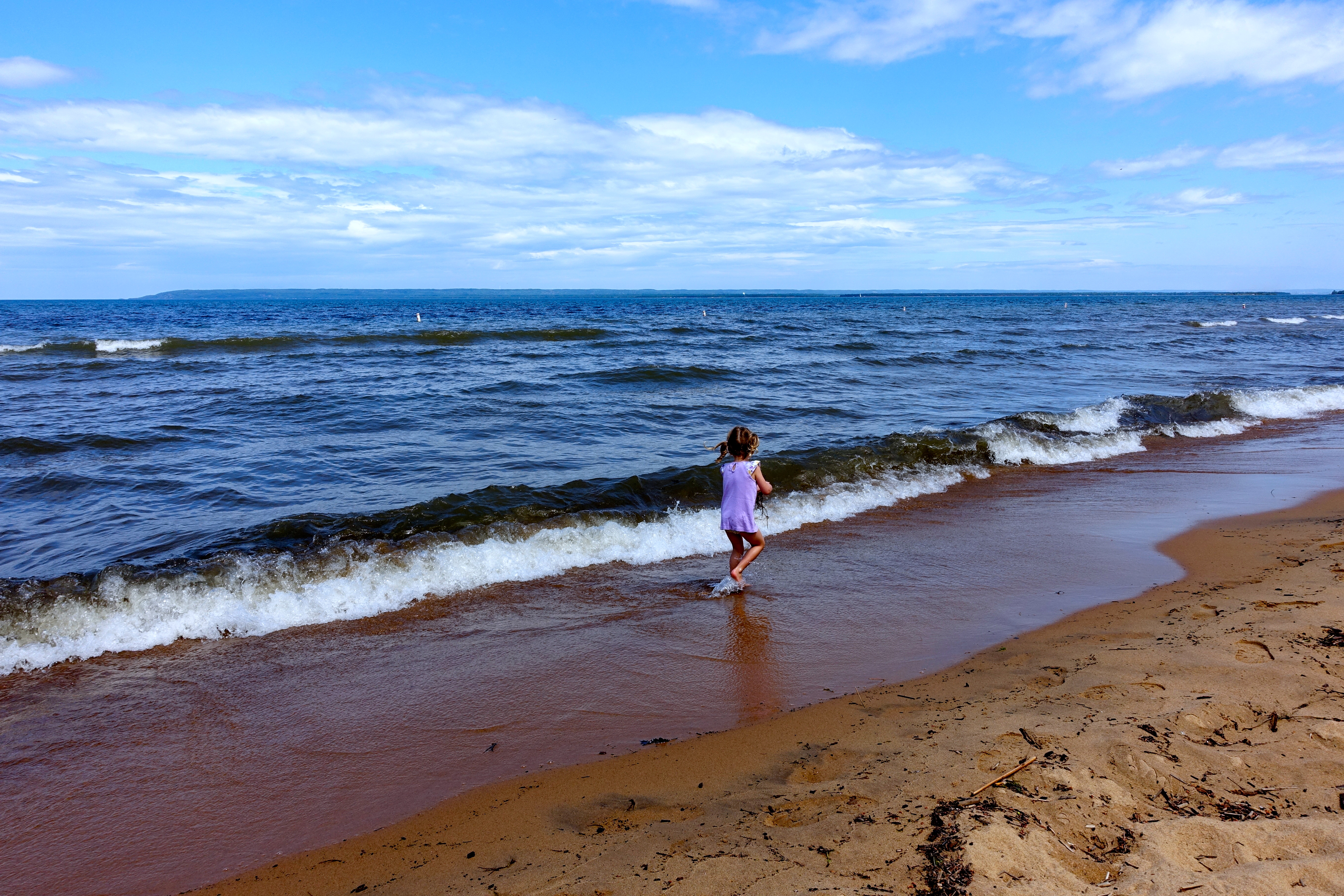 Blue water at Brimley State Park