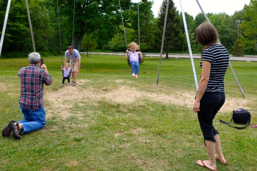 Family Swing time at Brimley State Park