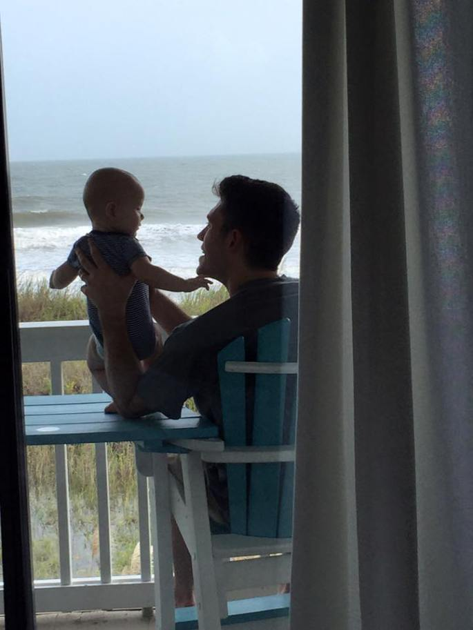 Father Son at Beach