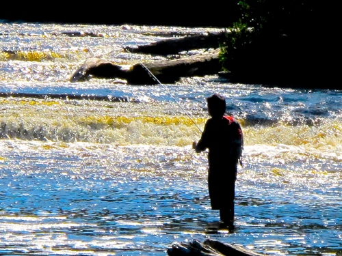 Fishing on Tahquamenon River