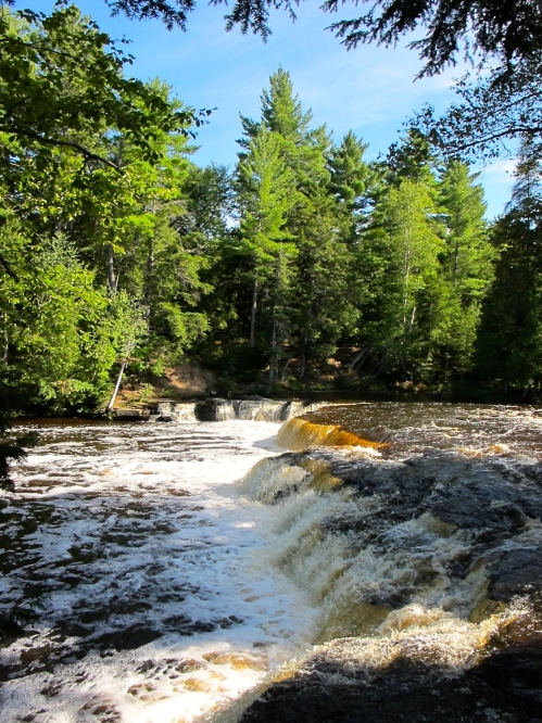 Foamy water at Lower Tahquamenon Falls