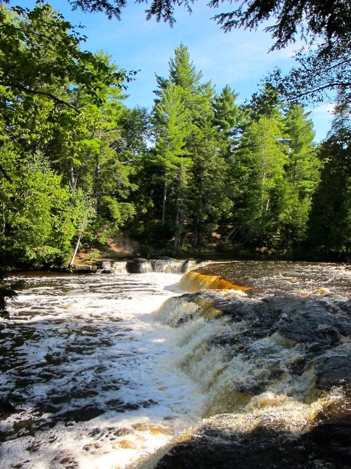 Foamy water at Lower Tahquamenon Falls