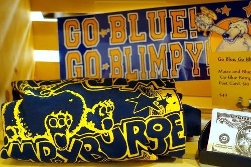 Go Blue. Go Blimpy at Krazy Jim's