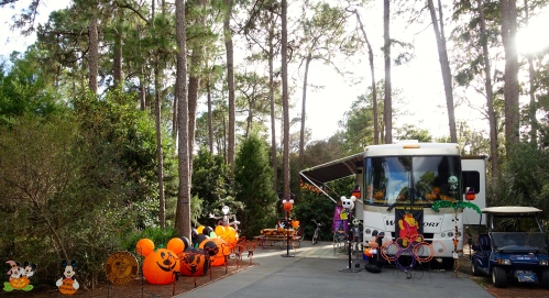 Halloween Decorations at Fort Wilderness
