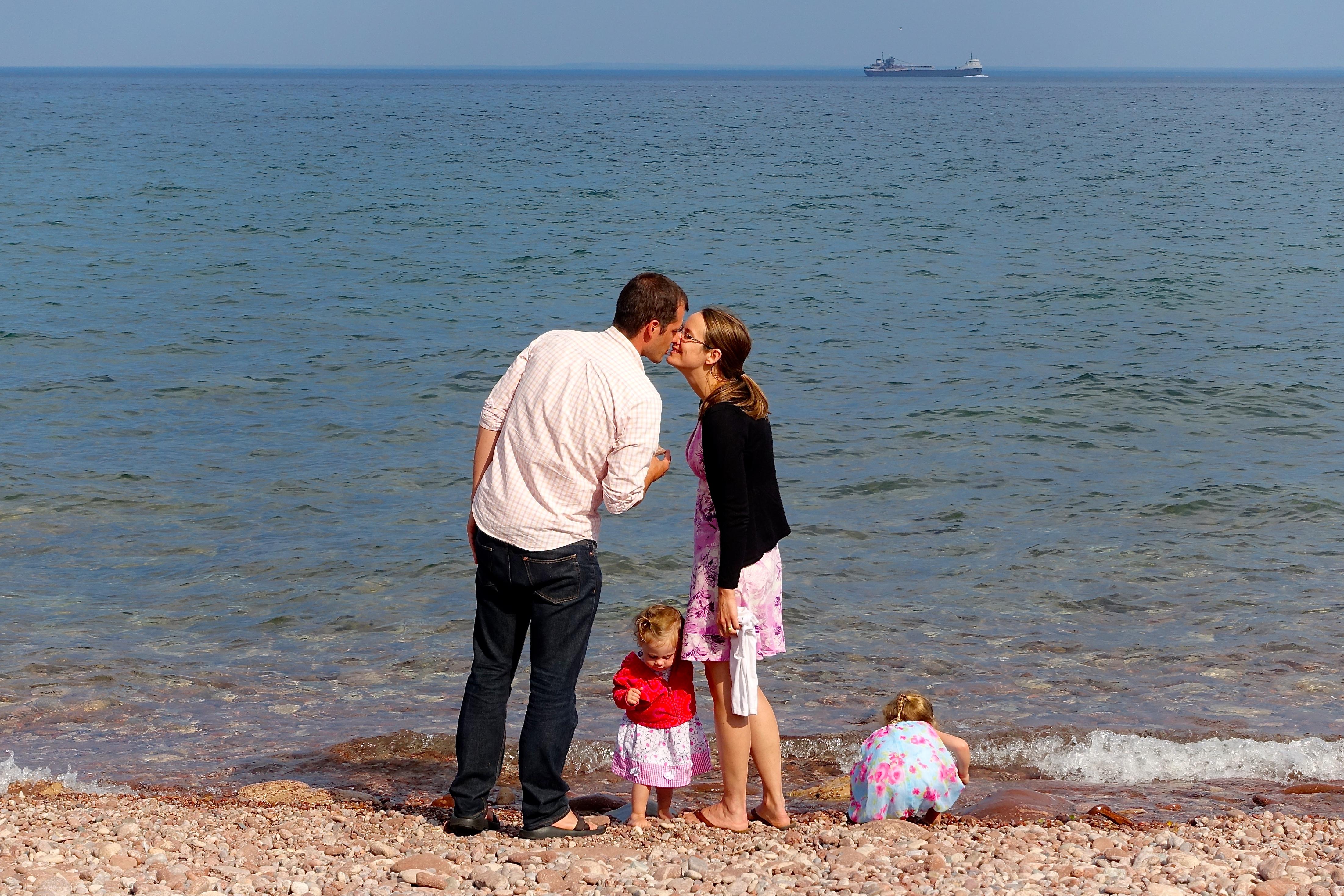 Kissing by Lake Superior