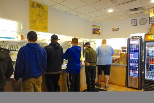 Line at Krazy Jim's