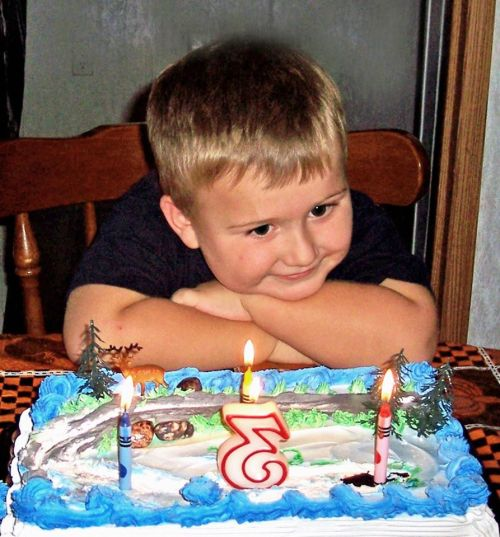 Little boy with Birthday Cake