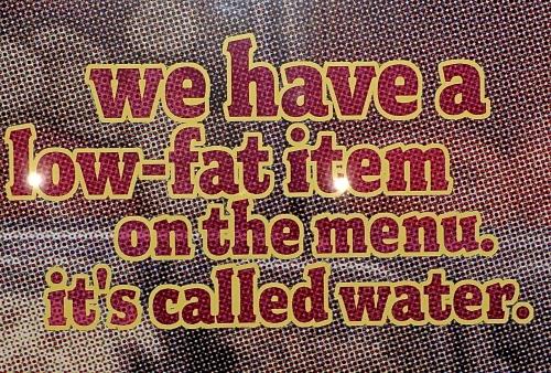 Low Fat Menu