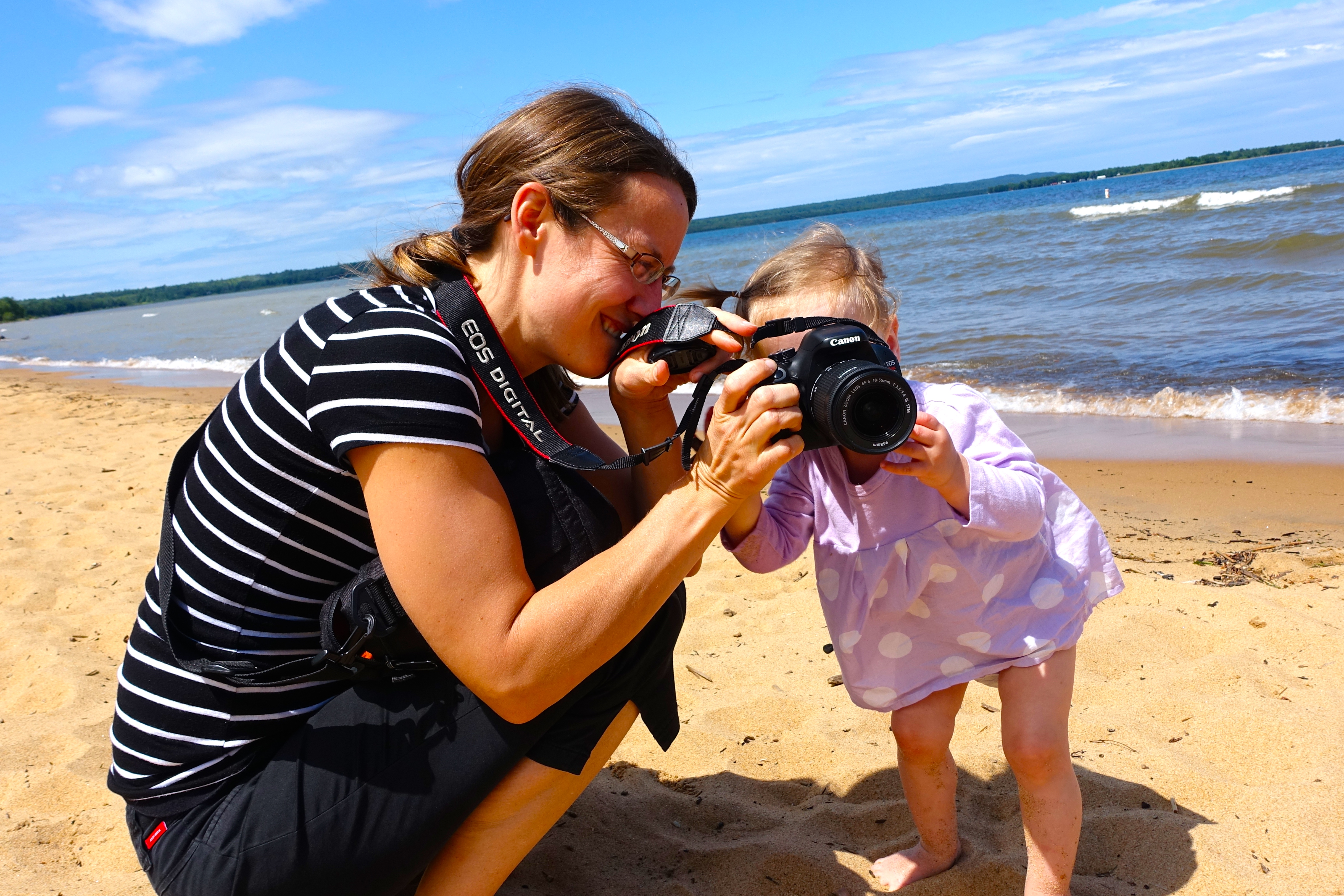 Mother and Baby taking picture