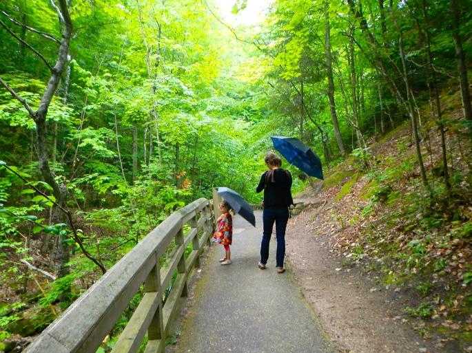Rainy Day walk at Munising Falls 3