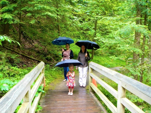 Rainy Day walk at Munising Falls 4
