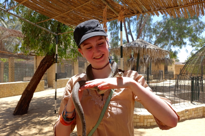 Snake at a Tunisian Zoo