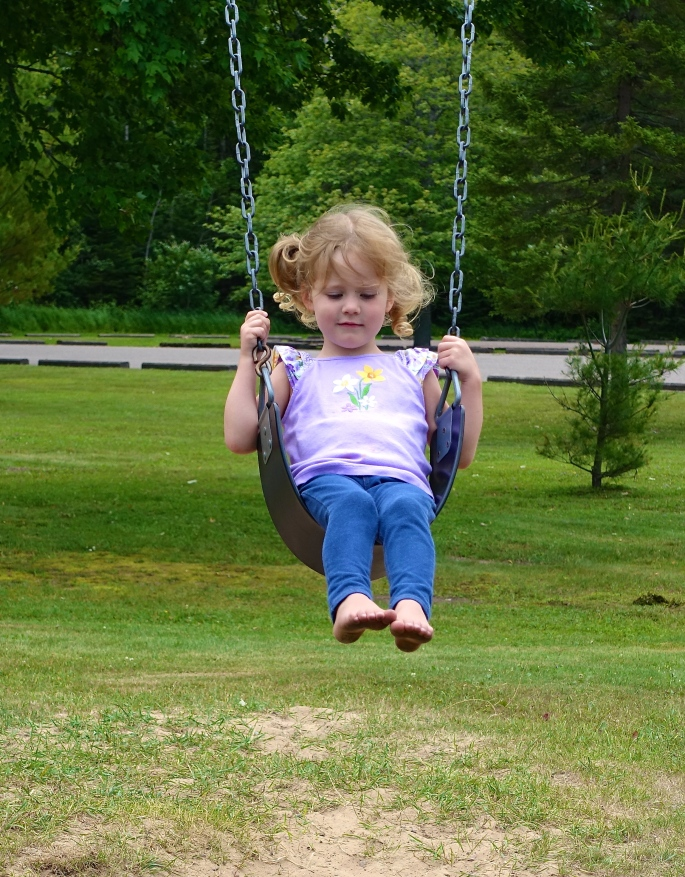 Swinging at Brimley State Park