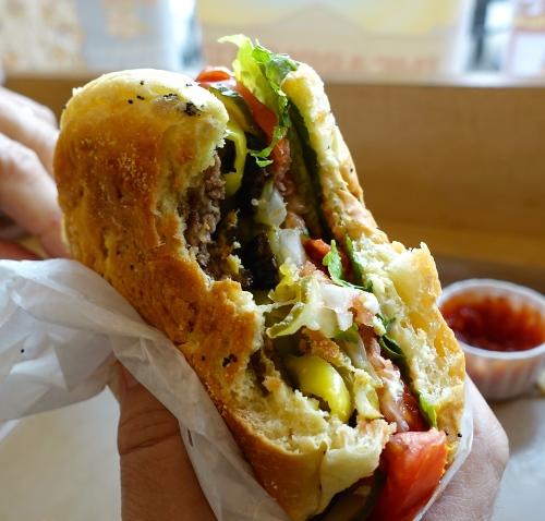 Triple at Krazy Jim's Blimpy Burgers