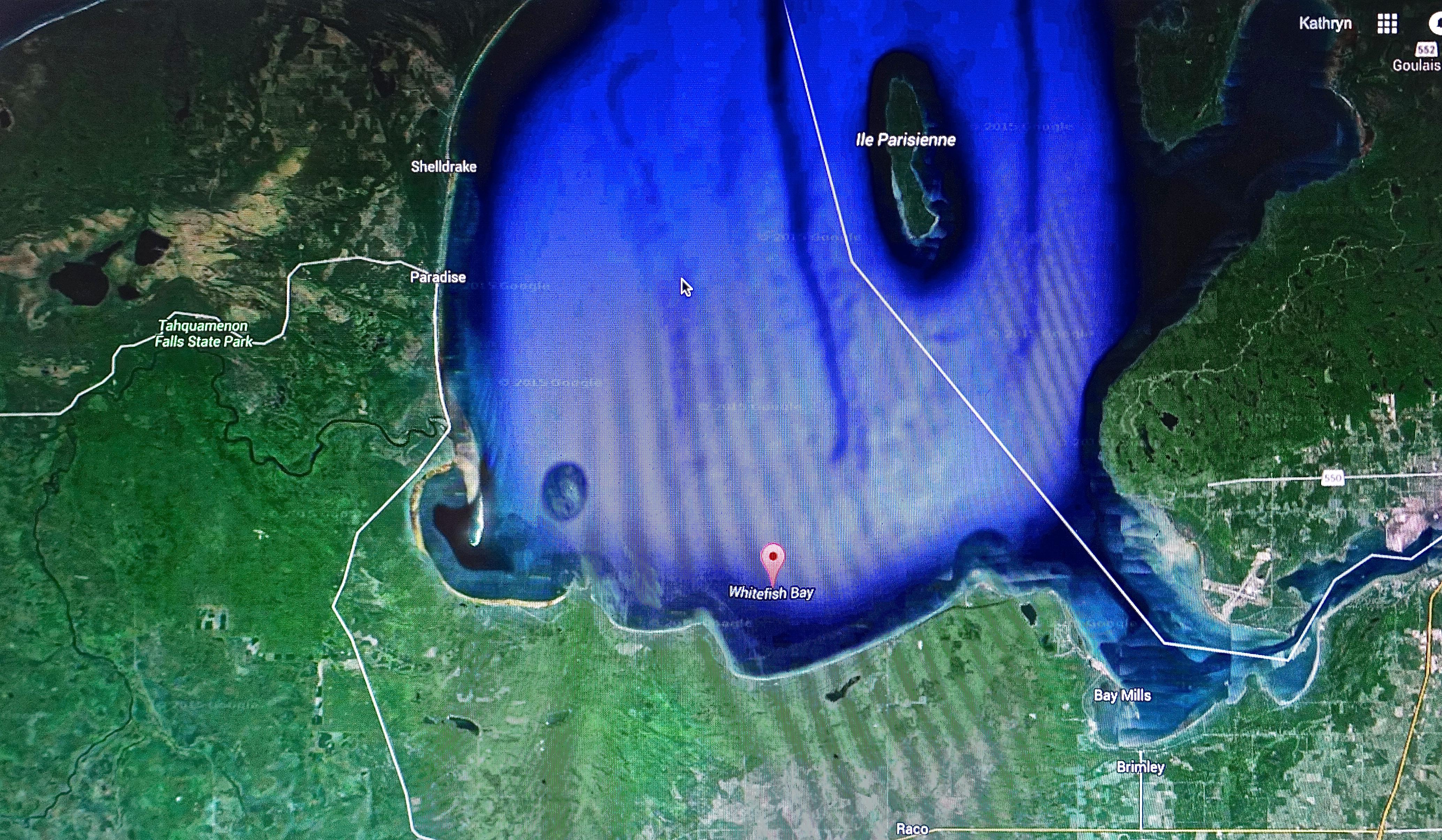 Whitefish Bay, Google Maps