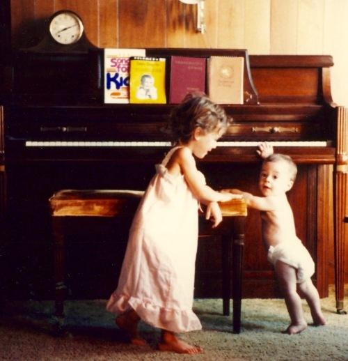 Baby at Piano