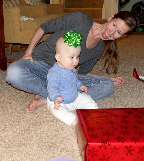 Baby with Bow on Head