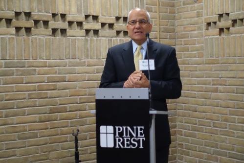 Board Chair Speaking at at Loeks Residency Center